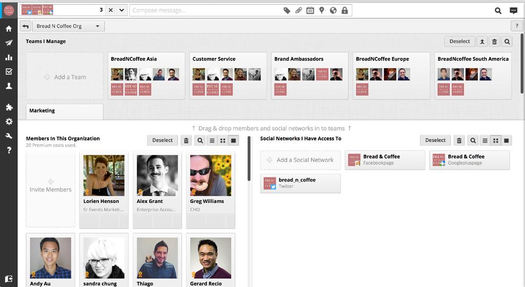 Organisations- und Workflowmanagement mit Rechteverwaltung in Hootsuite